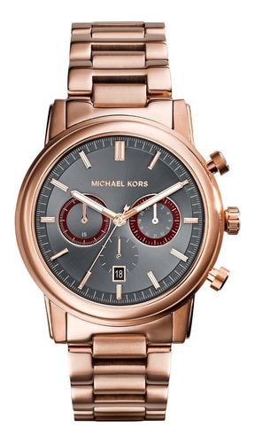Relógio Michael Kors Mk8370 Pennant Orig Gold Rosé Black