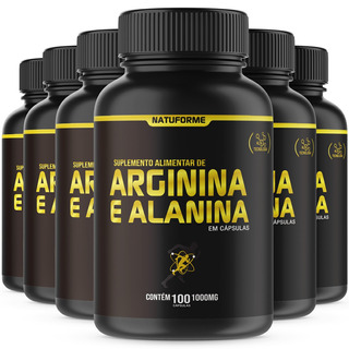 Arginina + Alanina No2 6x100 Cápsulas De 1000mg Natuforme