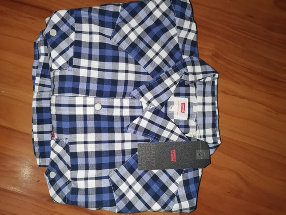 Camisa Levis Hombre Cuadros Azul