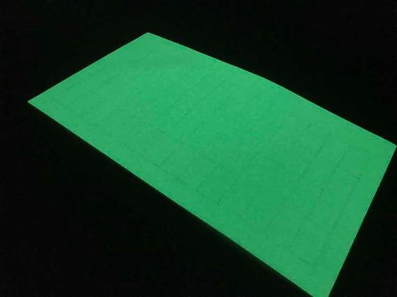 Adesivo Sinalizador Fosforescente Cartela Com 56 Retângulos
