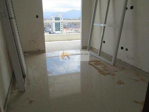 Imagem 1 de 16 de Imóveis Em Praia Grande, Apartamento Um Dormitório Com Suite,a Venda - V3121