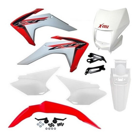 Kit Plastico Crf 230 Avtec Com Carenagem Farol Xcell