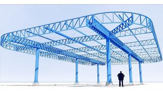 Projeto De Um Galpão Em Estrutura Metalica 10 X 20 Com Mezanino