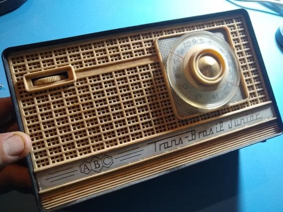 Radio Portátil Antigo Trans Brasil Junior Vintage Retro Abc