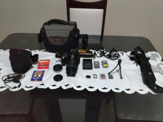 Câmera Dslr Nikon D5000, 18-55mm + Acessórios