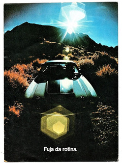 Folder Propaganda Antiga Lançamento Do Ford Maverick 1973