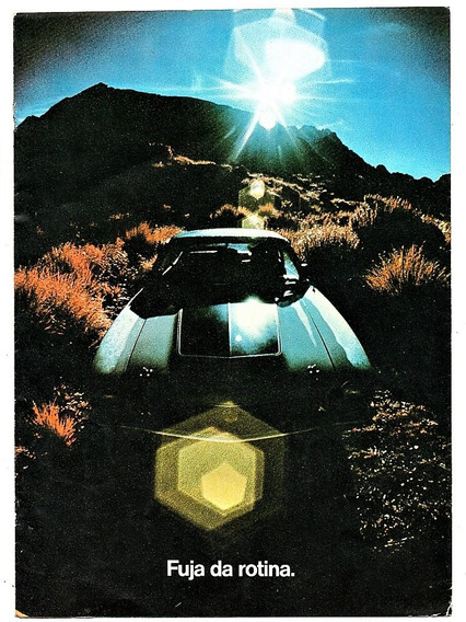 Folder Propaganda Antiga Lançamento Do Ford Maverick 1973