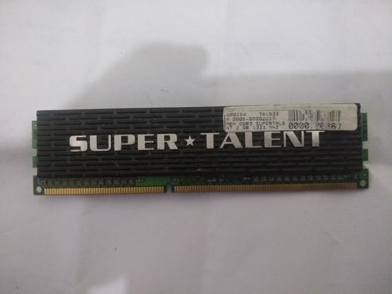 Memoria Pc Supertalent Extreme Black 2 Tu Ddr3 Con Disipador