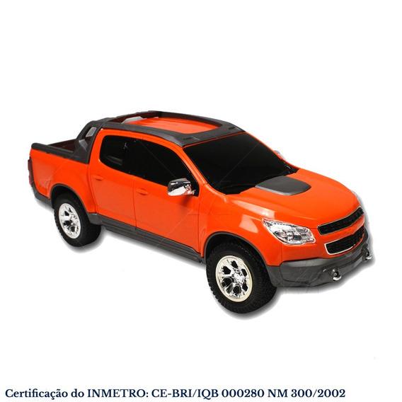 Carrinho Miniatura S10 Rally 1145 Rodas Cromada Laranja