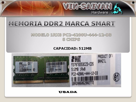 Memoria Ddr2 Smart 512mb Pc2-4200 533mhz 8 Chips 20