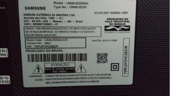 Tv Samsung 49 Un49j5200ag Tela E Moldura Danificada Smart