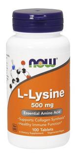 L Lysine (lisina) 500mg 100 Cap Tab - Now Foods (importada)