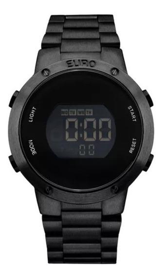 Relógio Euro Preto Digital Feminino Eubj3279ab/4p