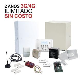 Kit De Alarma Con 2 Años De Comunicación Ilimitada 3g/4g