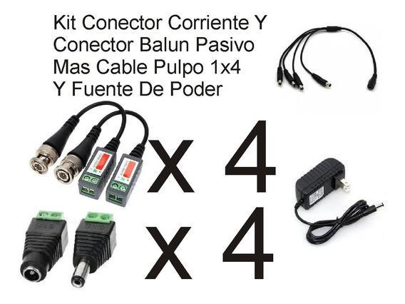 Kit Fuente Poder+baluns+conectores Corriente+cable Pulpo