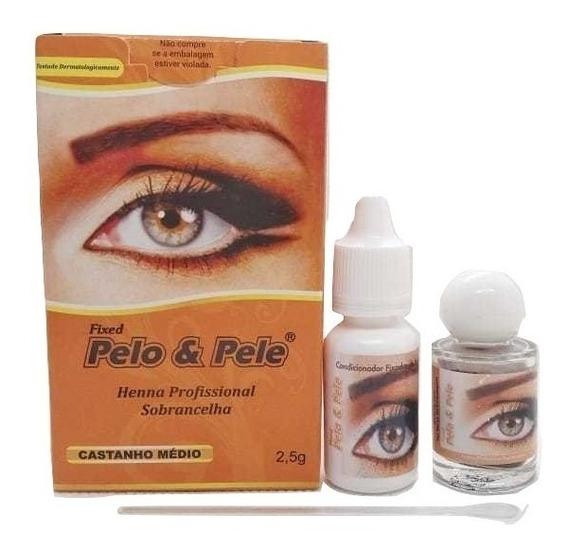 Henna P/ Sobrancelha Pelo & Pele 2,5g 1 Unid. Pelo E Pele