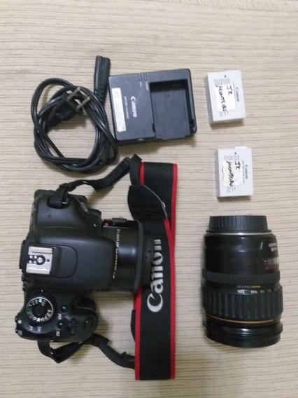 Câmera Canon T3i Com Duas Baterias Lente Canon 28x135