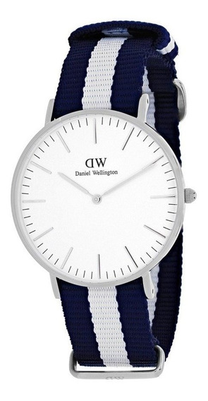 Daniel Wellington Classic Glasgow Plateado Blanco 40mm