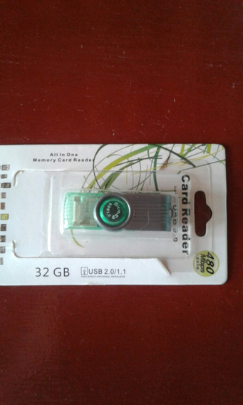 Adaptador De Cartao De Memoria 32gb Card Reader Usb2.0