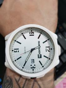 Relógio Quiksilver Beluka M154bs Awht Branco Pouco Uso