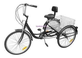 Triciclo Para Adulto 7 Velocidades Con Cesta 24