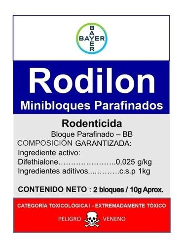 Veneno Para Ratas Rodilon Bloques - Unidad a $2999