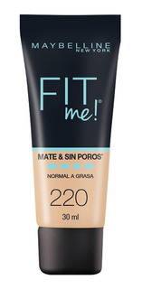 Base De Maquillaje Fit Me Matte Maybelline 220 Natural