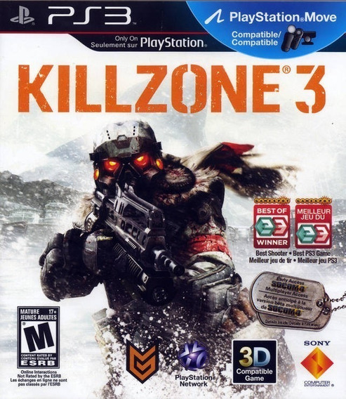 Kill Zone 3 | Ps3 / Playstation 3 M. Fisica