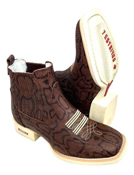 Botinas Texanas Tião 7estrivos Estilo 7 Boots Rodeios