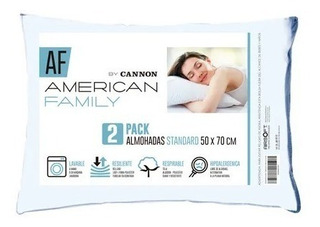 Pack 4 Almohadas 50 X 70 Cm. American Family. Envio Gratis!!