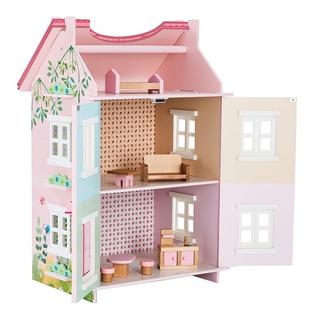 Casa De Muñecas Con 7 Muebles De Madera Teamson Kid Navidad