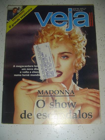 Revista Veja 1134 Madonna 10 Fotos Krueger Xuxa Seleção 1990