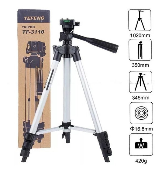 Tripé Profissional Para Cameras Celulares Go Pro Flexivel