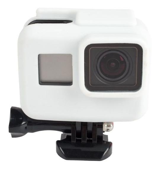 Capa Protetora Em Silicone Para Câmeras Gopro Hero 5, 6, 7 Black -branca...