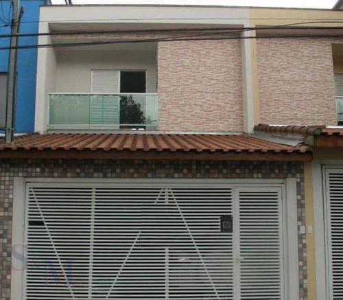 Imagem 1 de 13 de Sobrado Com 3 Dormitórios À Venda, 174 M² Por R$ 525.000,00 - Parque João Ramalho - Santo André/sp - So0318
