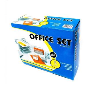Organizador Oficina Malla 5 Piezas Hy2214 Foska