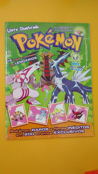 Álbum Figurinhas Pokémon Lendários 2010 Pikachu Completo!