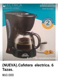 Cafetera Home Elements Jarra De Vidrio. Capacidad 6 Tazas