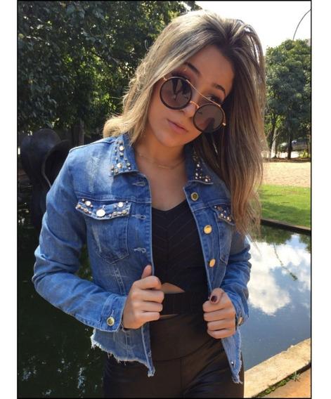 Jaqueta Jeans Com Pedraria