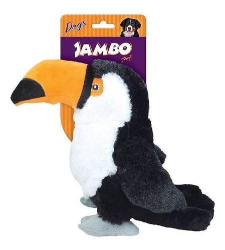 Imagem 1 de 1 de Brinquedo De Cachorro Mordedor Pelúcia Tucano Jambo Pet