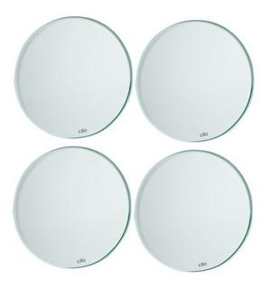 Product Description Set De Portavasos De Vidrio C/blanco (4)