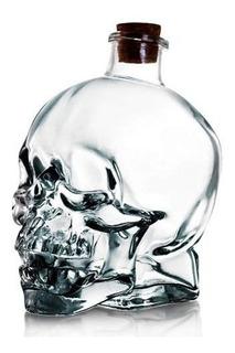 Botella Calavera Vidrio Craneo Vodka Whisky 750 Ml
