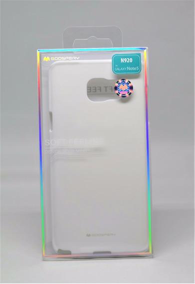 Funda Galaxy Note 5 Mercury Goospery Soft Feeling Blanco
