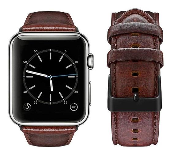 Correa Vintage Para Apple Watch Series 4/3/2/1 Redbrown