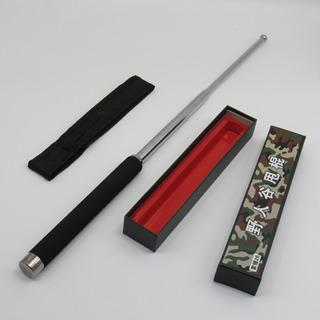Bastão Cassetete Retrátil Em Aço Cromado Auto Defesa 65cm