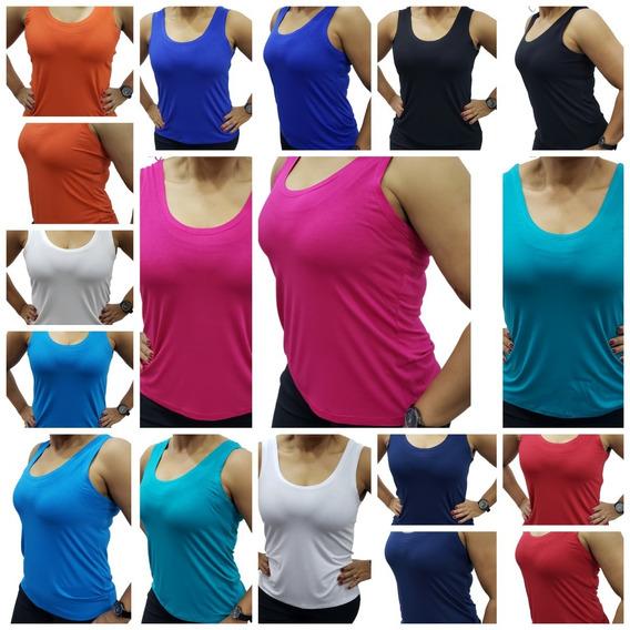 Kit 12 Regatas Blusas Básicas Camisetas Roupas Femininas