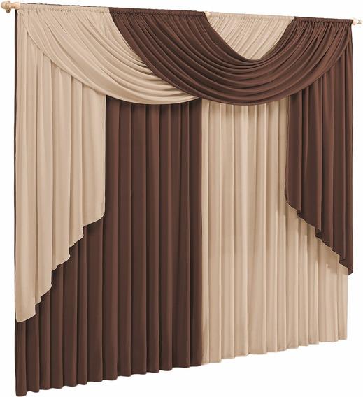 Cortina Elegance 3 00m X 2 80m Para Sala E Quarto
