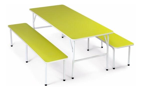 Mesa Para Refeitório Infantil Colorida