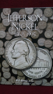 Album Para Monedas Jefferson Nickel 5 Centavos 1962 Al 1995