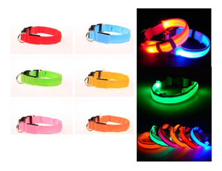 Collar Para Perros Gatos Ajustable Con Luz Led 3 Modos Luz